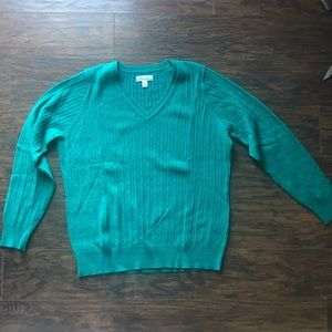 Kim Rogers Green Cable Knit Sweater